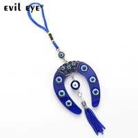 Azul Forma de Ferradura Charme Olho do mal FRETE GRÁTIS Car Jóias Chaveiro Pingente Com BULE EY4734 do GRÂNULO DO OLHO MAU