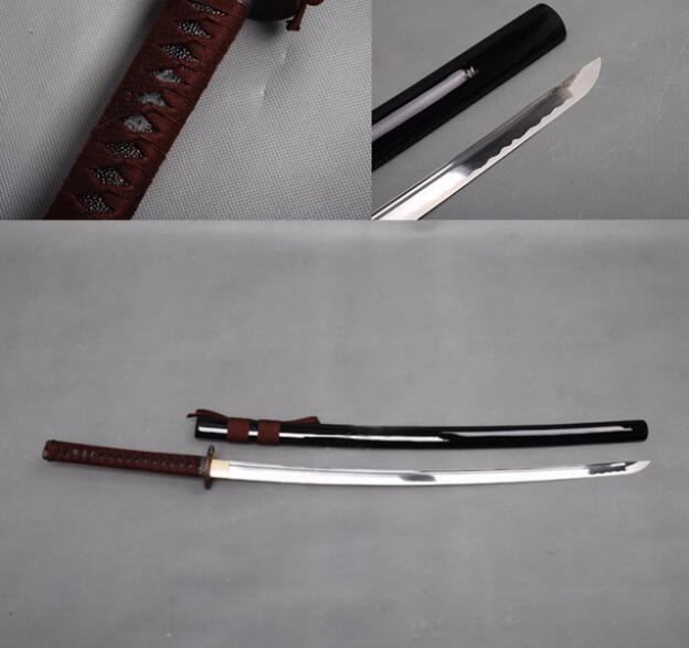 Hot barato real katana espadas para venda espada katanas samurai japonês espadas katana bushido Completa tang aço carbono Afiada