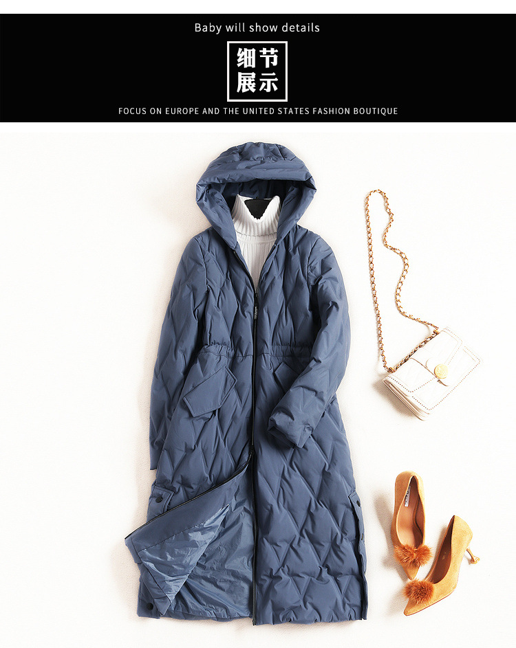 c43fd4184fd6 Europe And the United States Fashion Down Jacket 2018 Winter Ladies ...
