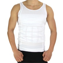Plus Size Mens Slimming Body Shaper Vest Shirt Abs Abdomen Slim Withe Black Slim And Lift