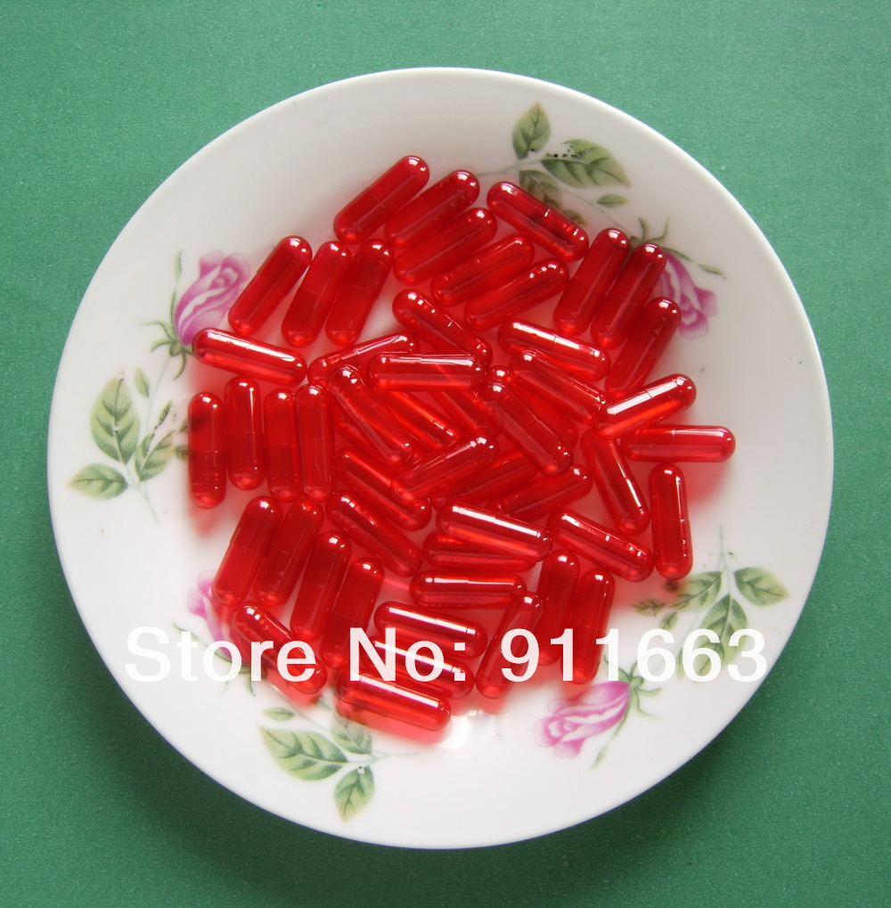 4# 10,000pcs,red translucent colored capsulessizes 4 capsules! (joined or seperated capsules available!)