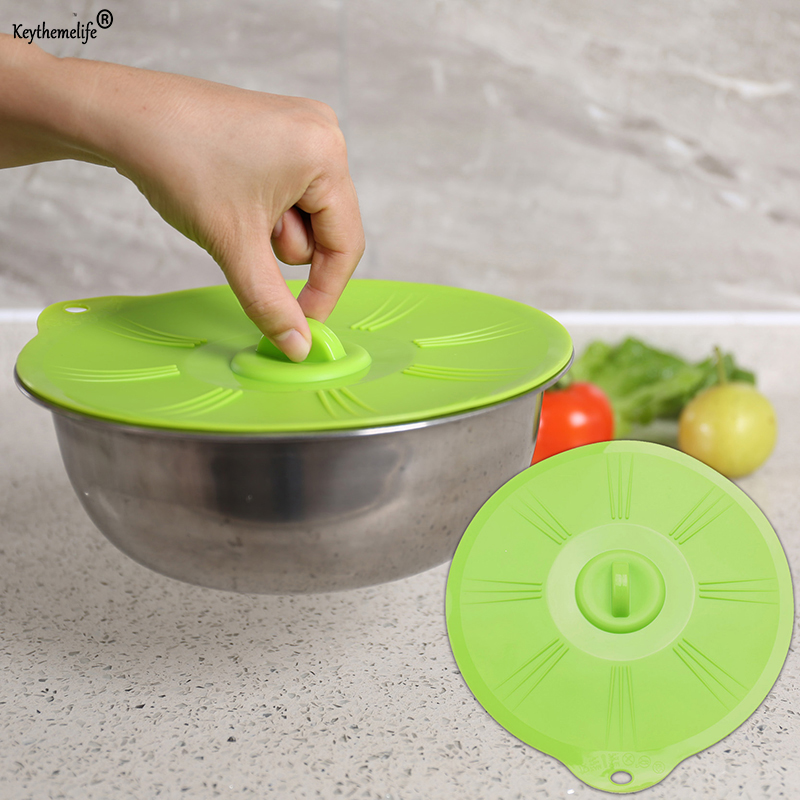 Keythemelife 1pc Silicone Microwave Bowl Cover Cooking Pot