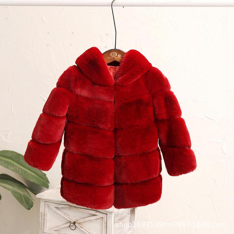 Image 4 - Dollplus New Winter Girls Fur Coat Elegant Thick Warm Baby Girl Faux Fur Jackets Coats Parka Kids Outerwear Clothes Kids Coat-in Jackets & Coats from Mother & Kids