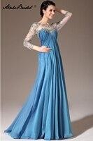 3/4 Sleeve Empire Long Formal Women's Dress Elegant Mother of the Bride Dresses vestidos de fiesta largos elegantes de gala