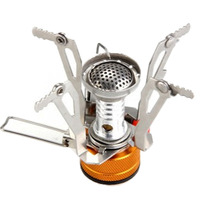 Mini Outdoor Camping Hiking Picnic Gas Cooking Food Water Stove Windproof Free Shipping