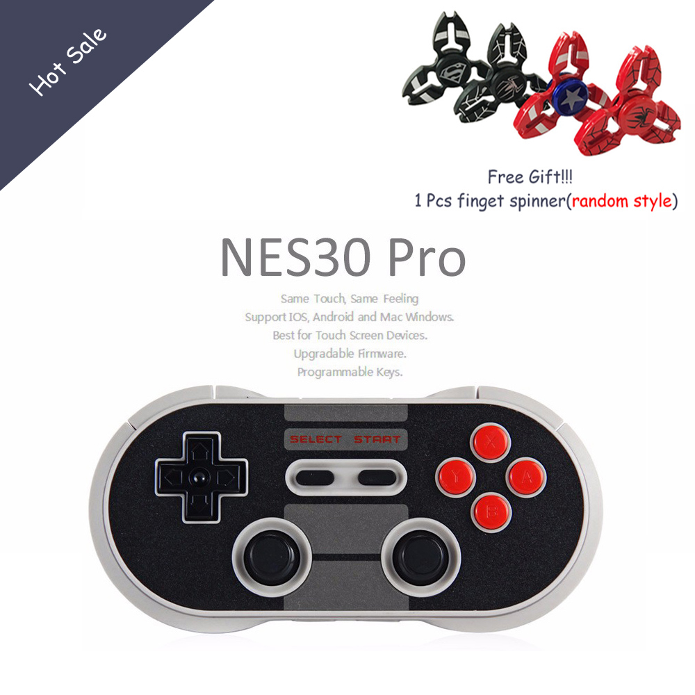 8Bitdo NES30 Pro Finger Spinner Wireless Bluetooth Controller Dual Classic Joystick for iOS Android Gamepad PC
