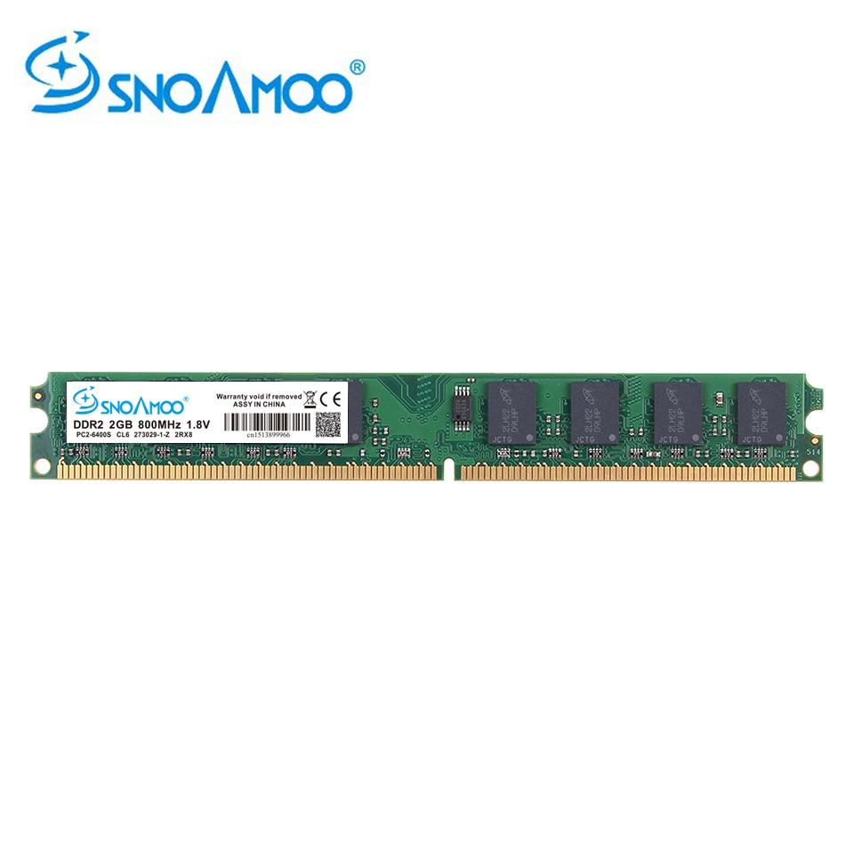 SNOAMOO Neue DDR2 2 GB Desktop PC ARM 667 Mhz PC2-5300S 240 Pin 800 MHz PC2-6400S 1 GB 4 GB DIMM Für Intel Kompatibel Computer speicher