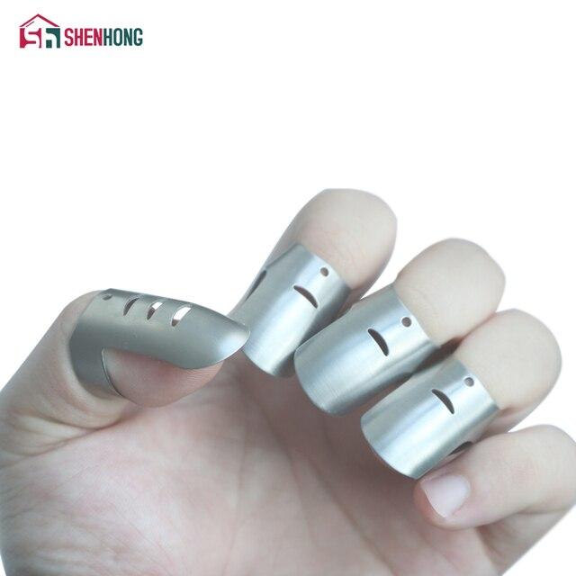 shenhong 4pcs set adjustable stainless steel finger hand guard