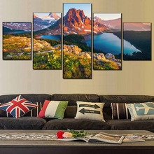 Modern Decorative Print Picture Poster 5 Piece Landscape HD Painting Wall Art Canvas Living Room