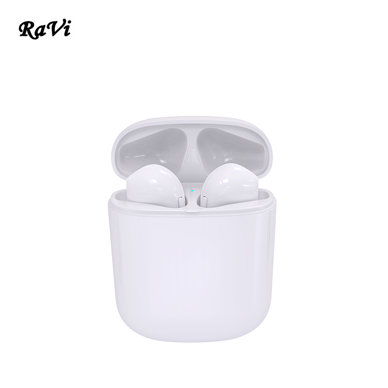 RAVI Mini Bluetooth Earphone Double Ear TWS Earbuds Wireless Earphone In-Ear Headset Headphone With Mic for apple iphone Android dacom tws 7s true wireless bluetooth headset mini bluetooth 4 2 wireless earpiece earbuds in ear earphone for iphone 7 android
