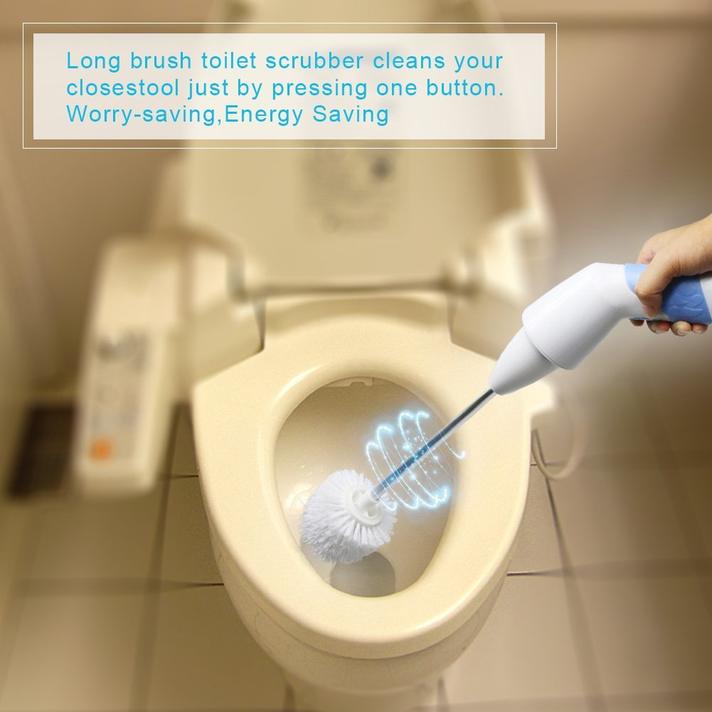 HOT Powered Household Rechargeable Electric Toilet Scrubber ...