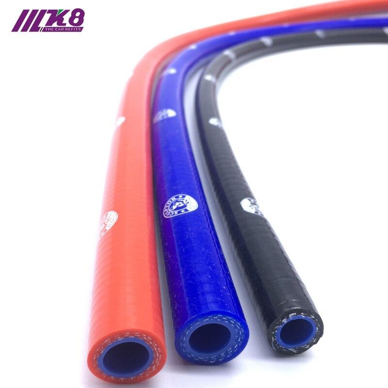 Прямой силиконовый шланг Хладагента 1 метр Длина интеркулера труба ID 6,5 мм 8 мм 10 мм 12 мм 13 мм красный/синий/черный