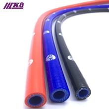 Прямой силиконовый шланг для охлаждающей жидкости длиной 1 метр, интеркулер для труб с внутренним диаметром 6,5 мм, 8 мм, 10 мм, 12 мм, 13 мм, красный/синий/черный