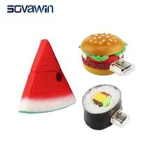 Sovawin Real like Tasty Food PVC Usb Flash Drive Pendrive 64 gb 32gb 16gb Mini Memory Stick Cool Gifts