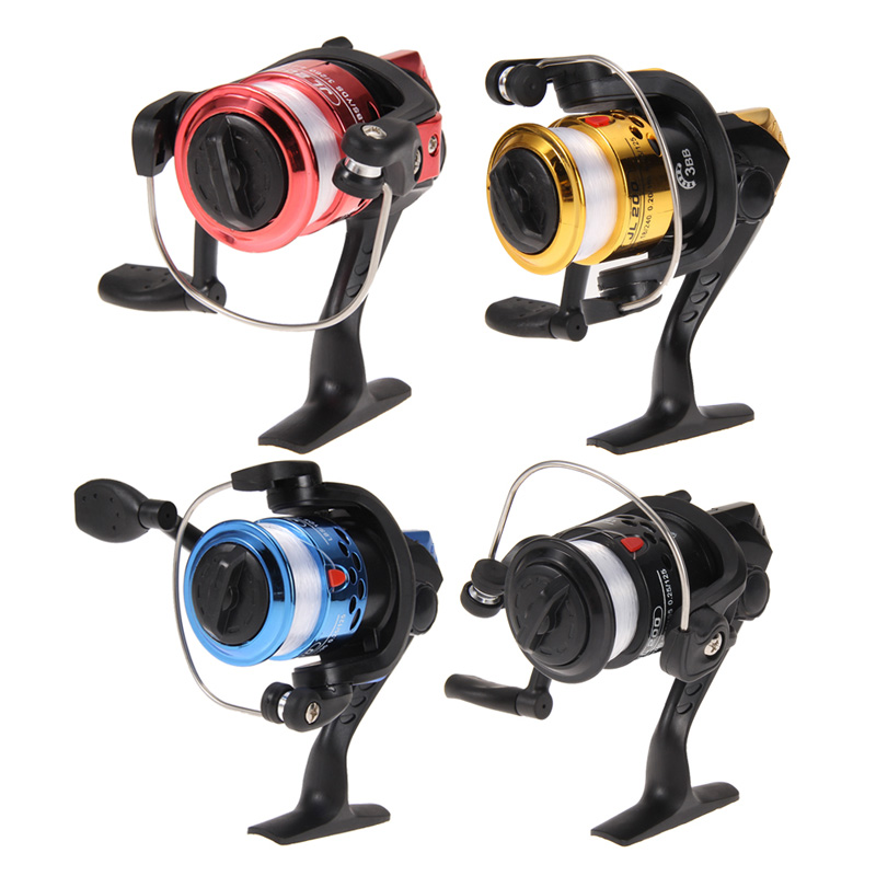 Fiskeri Reel Aluminium Body Spinning Reel High Speed ​​G-Ratio 5.2: 1 Fiskerespoler med Line Kobber Stangstang Lure Lure tackle linje
