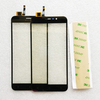 Zwart Goud Touchscreen Digitizer Voor Cubot Note S Telefoon Touch Panel Outer Glas Vervanging + 3 M Tape