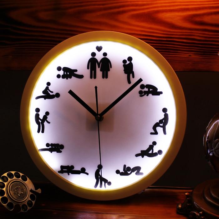 2015 Rare Sexual Love Style Neon Led Wall Clock Creative Original