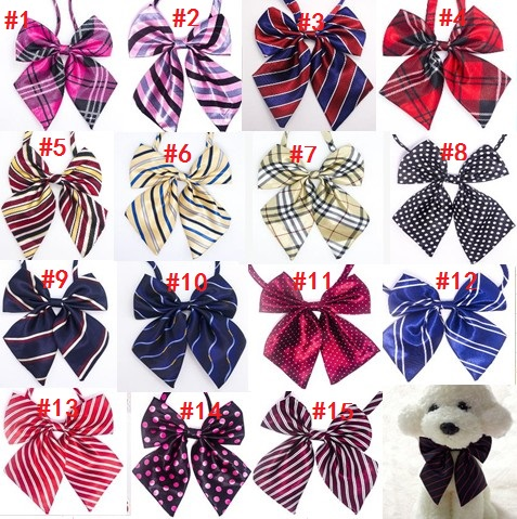 60pc lot Big sale Colorful Handmade Adjustable Large Pet Dog Bow ties Neckties Big Dog Grooming