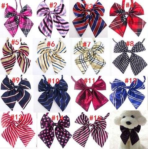 60pc lot Big sale Colorful Handmade Adjustable Large Pet Dog Bow ties Neckties Big Dog Grooming