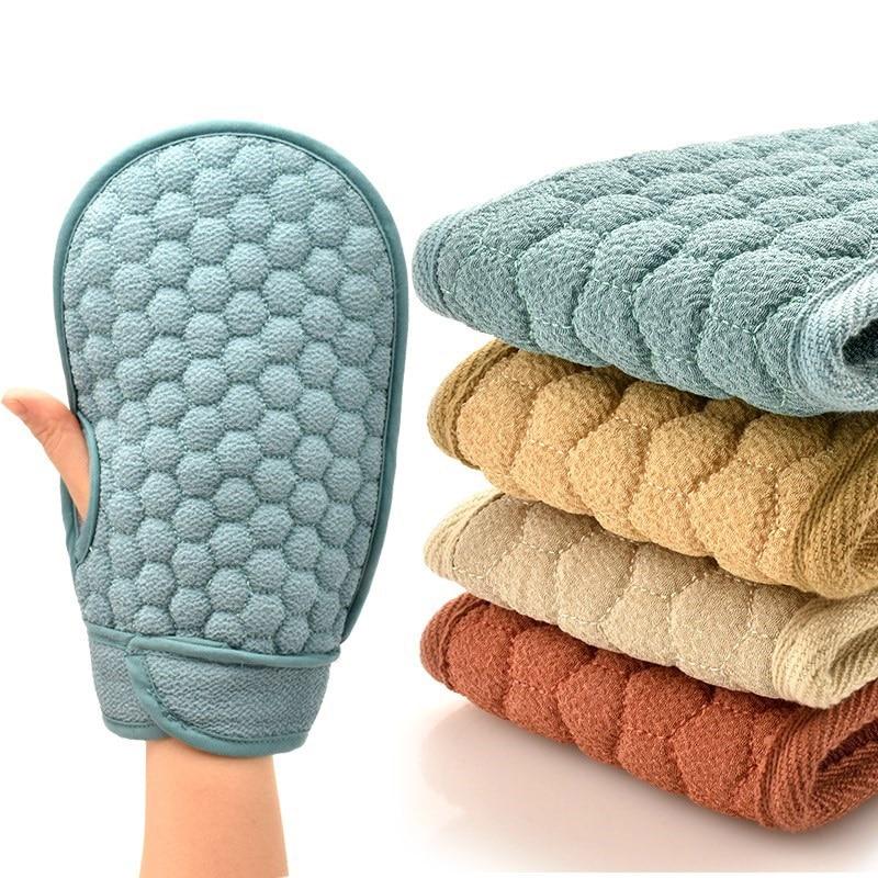 Bath Refreshing Bath Towel Strong Decontamination Massage Plus Cotton Ladies Bath Gloves Advanced Scrubber L0411 Bath Brushes, Sponges & Scrubbers