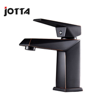 Basin faucet black ancient red side copper simple wash basin above counter hot and cold