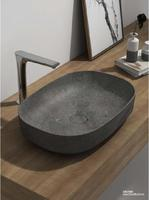 BATHROOM ABOVE COUNTER TOP Vessel Sink Natural Stone Rectangular Nero Marquina WASHBASIN 38579N