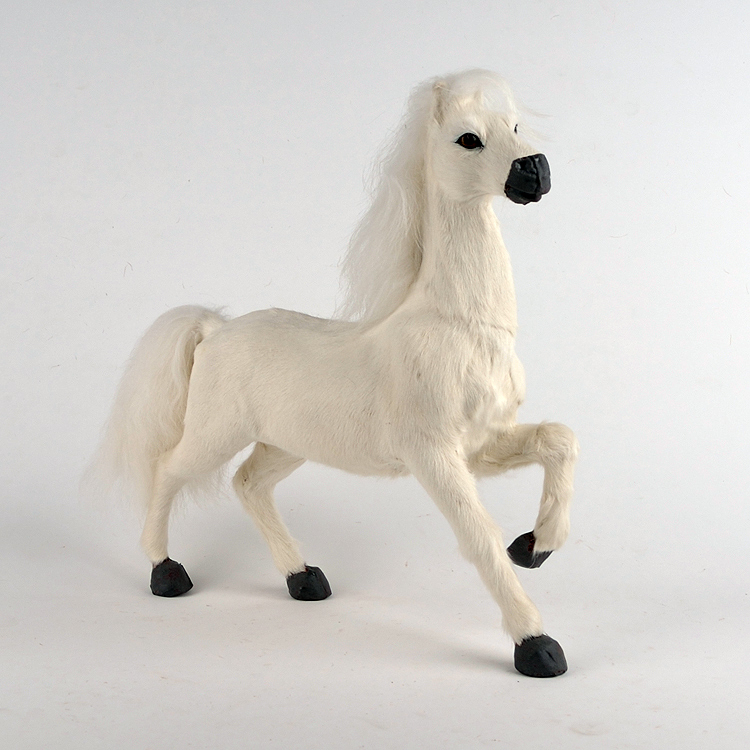 new simulation horse toy plastic&fur whtie horse model gift about 31x9x30cm a83 цена и фото