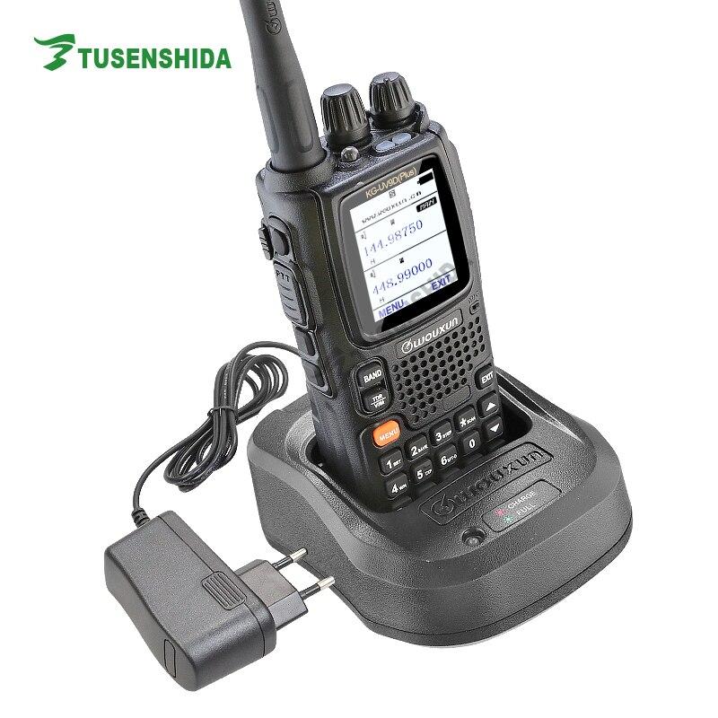 Nouvelle Arrivée Double Bande TX 136-174/400-512 mhz Sept Bande Réception Croix Répéter Talkie-walkie WOUXUN KG-UV9D plus
