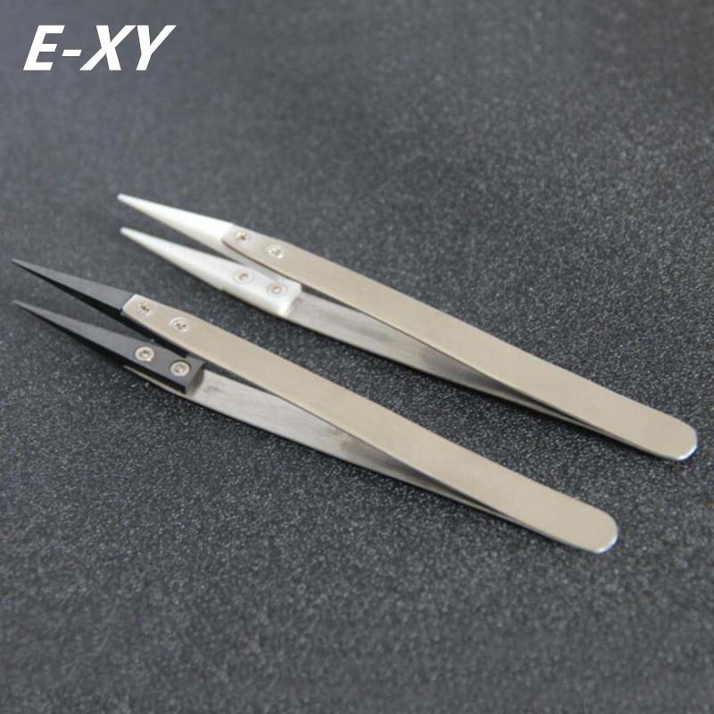E-XY E-cigarett Montering Verktyg / Värmebeständig Pincett Typ Keramisk Pincett Rebuild Tool Värmebeständig keramisk pincett