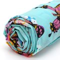 FS Hot Woman Neckerchief scarf Cheche Shawl Butterfly Printed Chiffon Stole Wrap Scarf