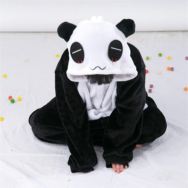 Cartoon zvířat Panda Onesies pro děti Onesie pyžamo Jumpsuit mikiny Sleepwear pro děti