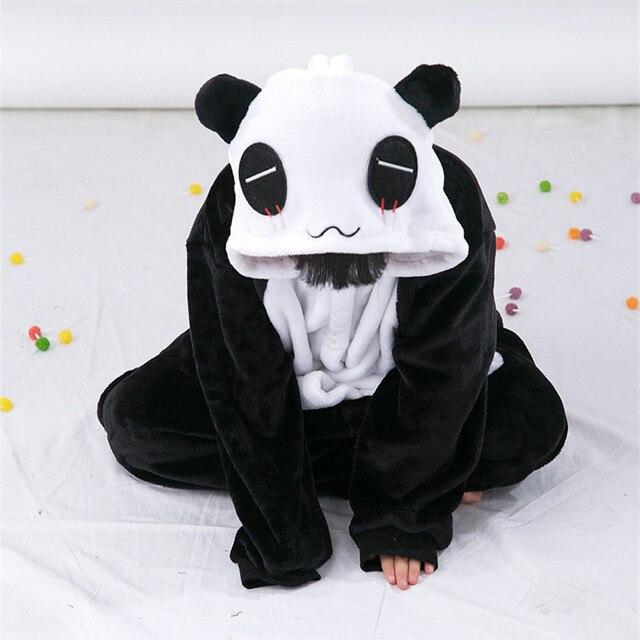 a0c3cfea8ad424 Cartoon zwierząt Panda Onesies dla dzieci Onesie piżamy kombinezon bluzy  bielizna nocna dla dzieci