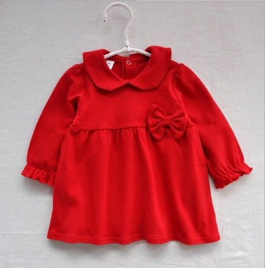 451c563f0b253 US $24.46 5% OFF| 2017 New red Baby Dress Infant girl dresses Princess  Birthday Dress for children gift 1 3Y-in Dresses from Mother & Kids on ...