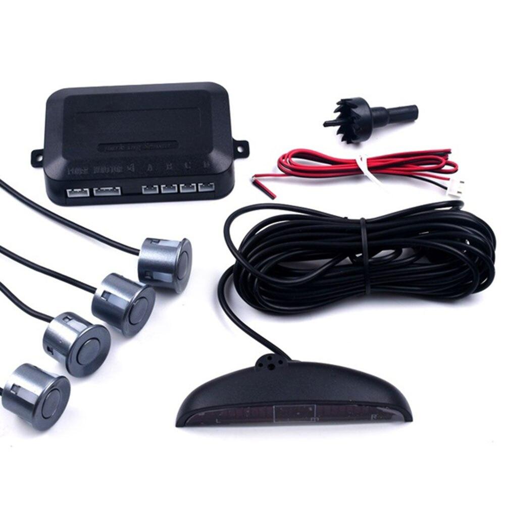 Автомобильный парковочный сенсор обратный резервный радар ЖК-дисплей 12 В 4 сенсор s 22 мм зуммер авто детектор системы комплект для всех автомобилей - Название цвета: gray