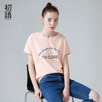 To Youth Promotion Women 100 High Quality Pure Cotton Short Sleeves O Neck Charactor Printed Simple