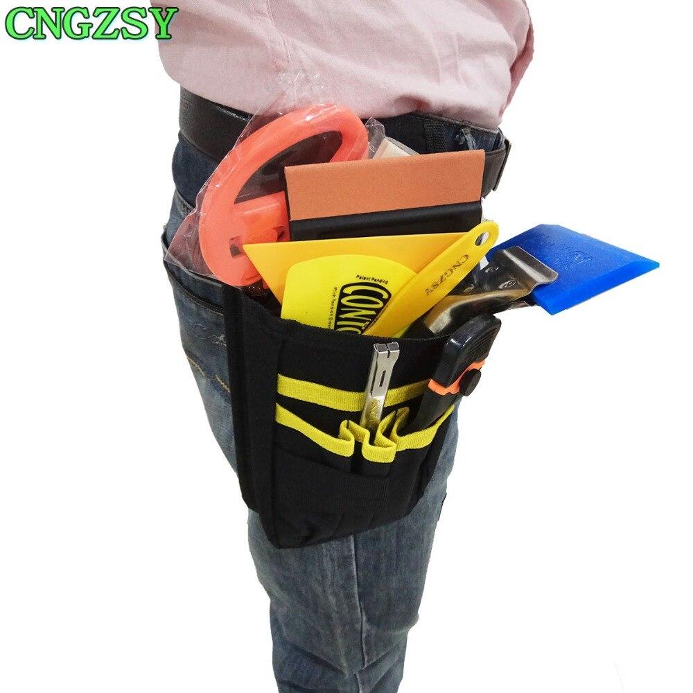 Couteau encliquetable vinyle sécurité Cutter support magnétique outils sac gants daim feutre bord raclette grattoir Kit véhicule voiture emballage K27 - 5
