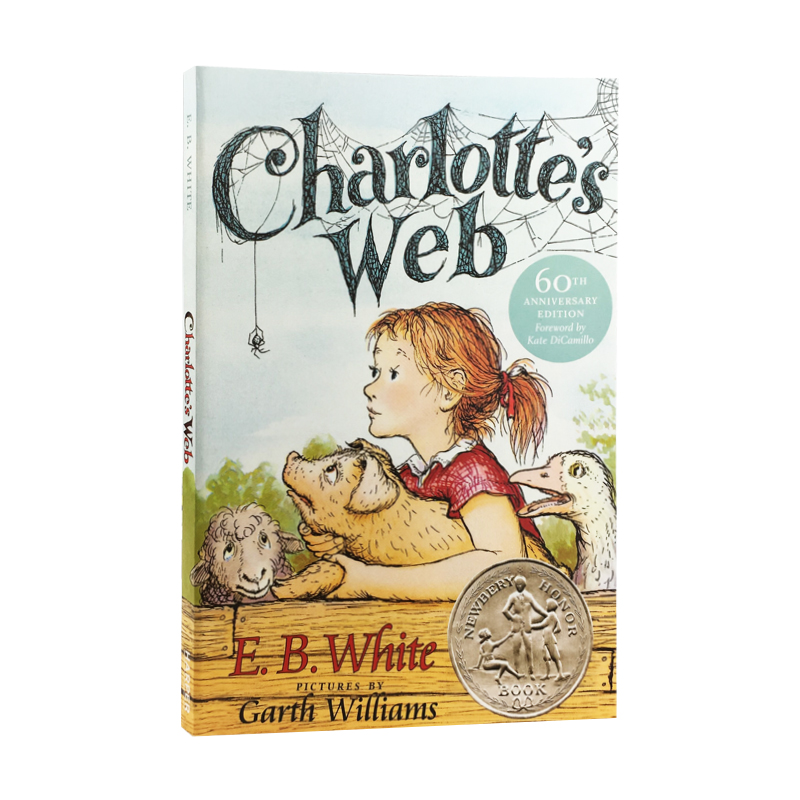 New Hot  Charlotte's Web English Fiction Book For Adult Children