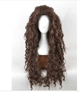 Image 2 - Movie Film Character Bellatrix Lestrange Cosplay Wig Long Brown Curly Heat Resistant Synthetic Hair Costume Wigs + Wig Cap