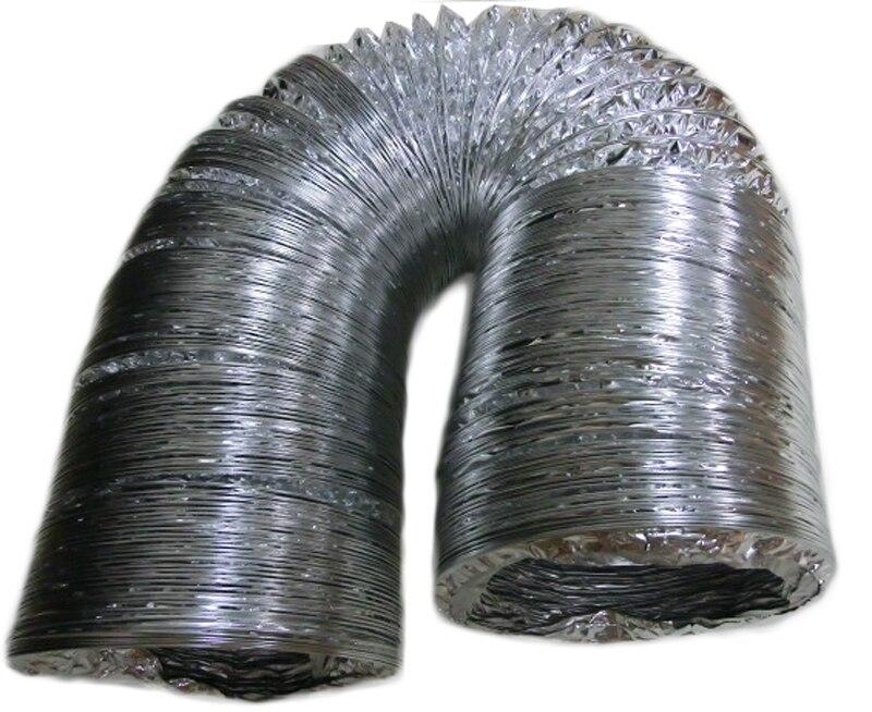 Дымовой трубы 152 мм Диаметр вентилятора вентиляции вентиляционные трубы протока огонь труба алюминиевая фольга каменки