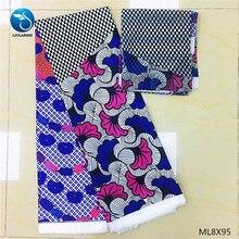LIULANZHI nigerian fabric ankara wax new arrival 6 yards silk printing for dresses ML8X95