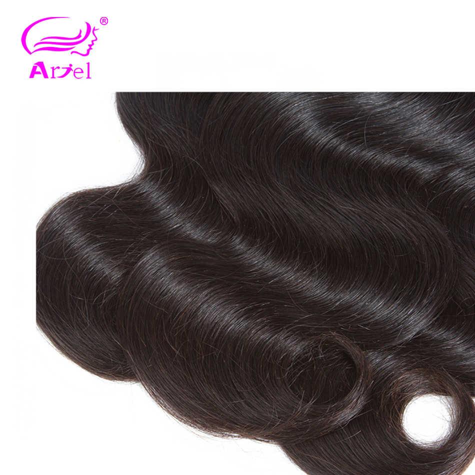 גוף גל חבילות פרואני שיער Weave חבילות כפול ערב ללא רמי 100% שיער טבעי הרחבות 32 28 30 Inch הארכת שיער אריאל