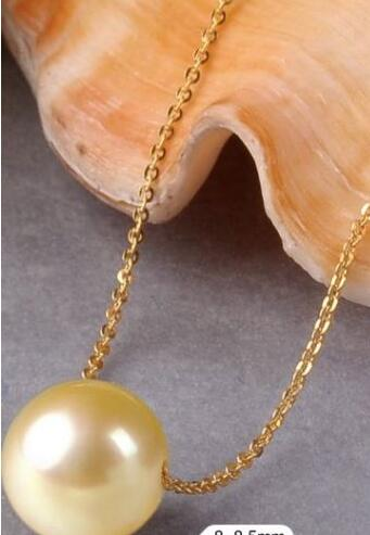 Free shipping huge 12-13mm south sea natural gold pearl pendant 18 chain Free shipping huge 12-13mm south sea natural gold pearl pendant 18 chain
