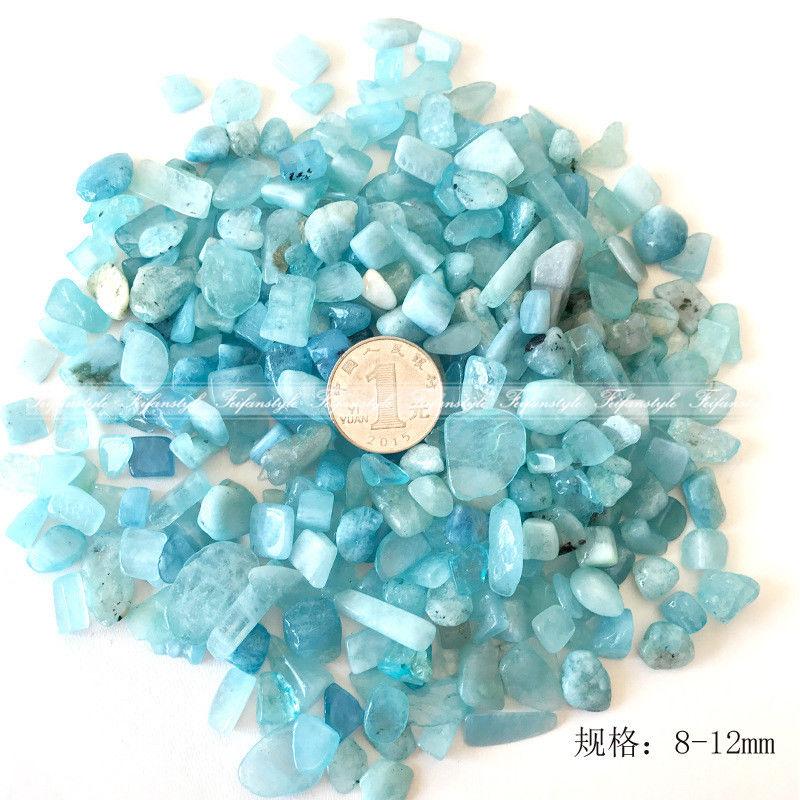 50g 2 Size Natural Raw Blue Aquamarine Crystal Gravel Specimens Natural Crystal C712 Natural Stones And Minerals