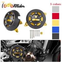 MT09 Left & Right CNC Engine Guard Stator Case Protective Plug Clutch Slider Cover for 2014 2015 2016 Yamaha MT 09/Tracer 900