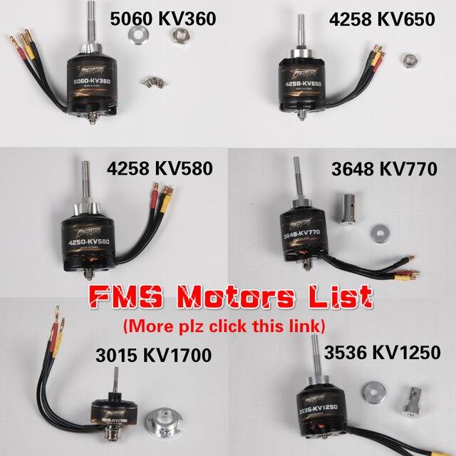FMS motores de avión teledirigido sin escobillas, 5060, 4258, 4250, 3648, 3536, 3541, KV540, KV580, KV360, KV850