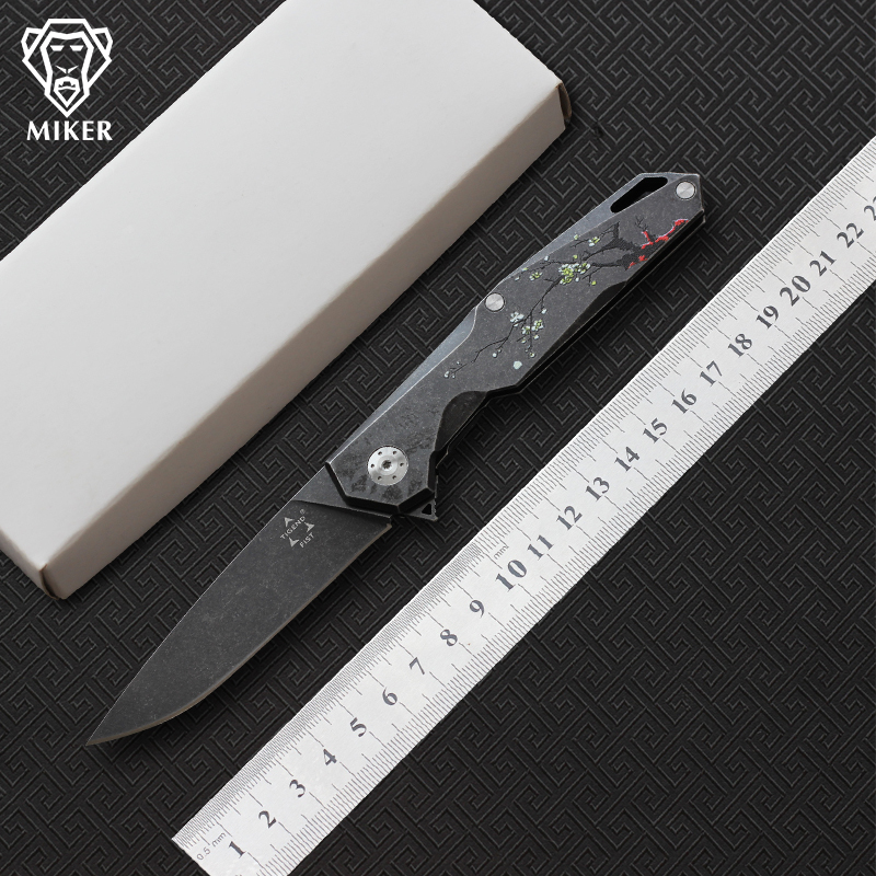 MIKER TIGEND Tianyi Flipper Tactical folding knife 9cr18mov Blade steel handle camping hunting Hunting pocket knives