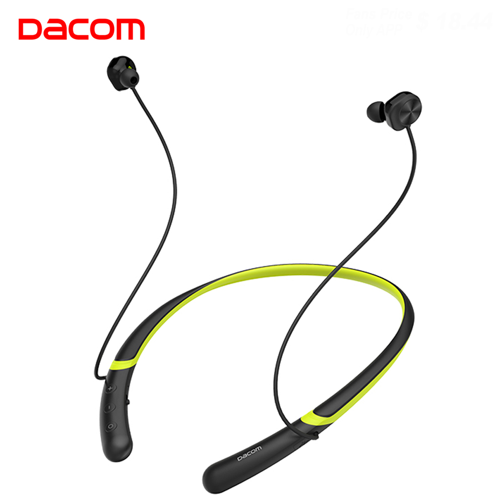 DACOM L02 Bluetooth Collar Earphone Dual Dynamic Driver Noise Canceling Bass Wireless Headphone Magnetic In ear