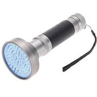 10 шт./лот 395nm 100 светодио дный УФ-фонарик яркий УФ факел Алюминий ультрафиолетового детектор с лампой чёрного света для собаки кошки мочи жив...