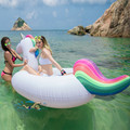 275cm 108 inch inflatable Unicorn Giant Pool Float Swimming Float for Adult Tube Raft Kid Swim Ring Summer Water Fun Pool Toy