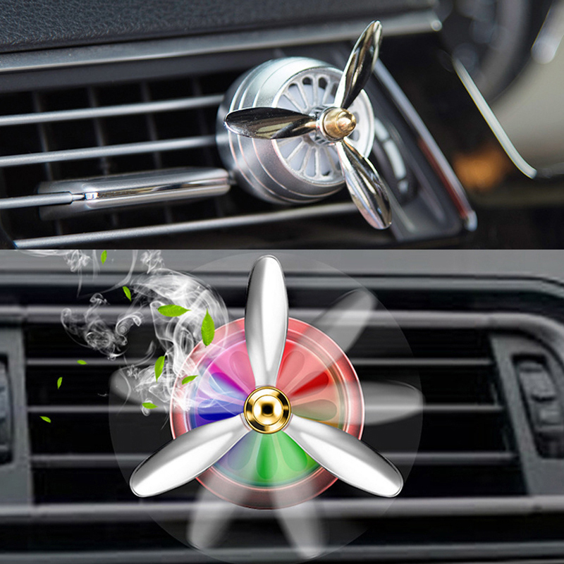 Car Perfume Air Freshener Vent Outlet <font><b>LED</b></font> Mini Alloy For Ford Focus 2 1 Fiesta Mondeo 4 3 Transit Fusion Ranger <font><b>Mustang</b></font> KA S-max image
